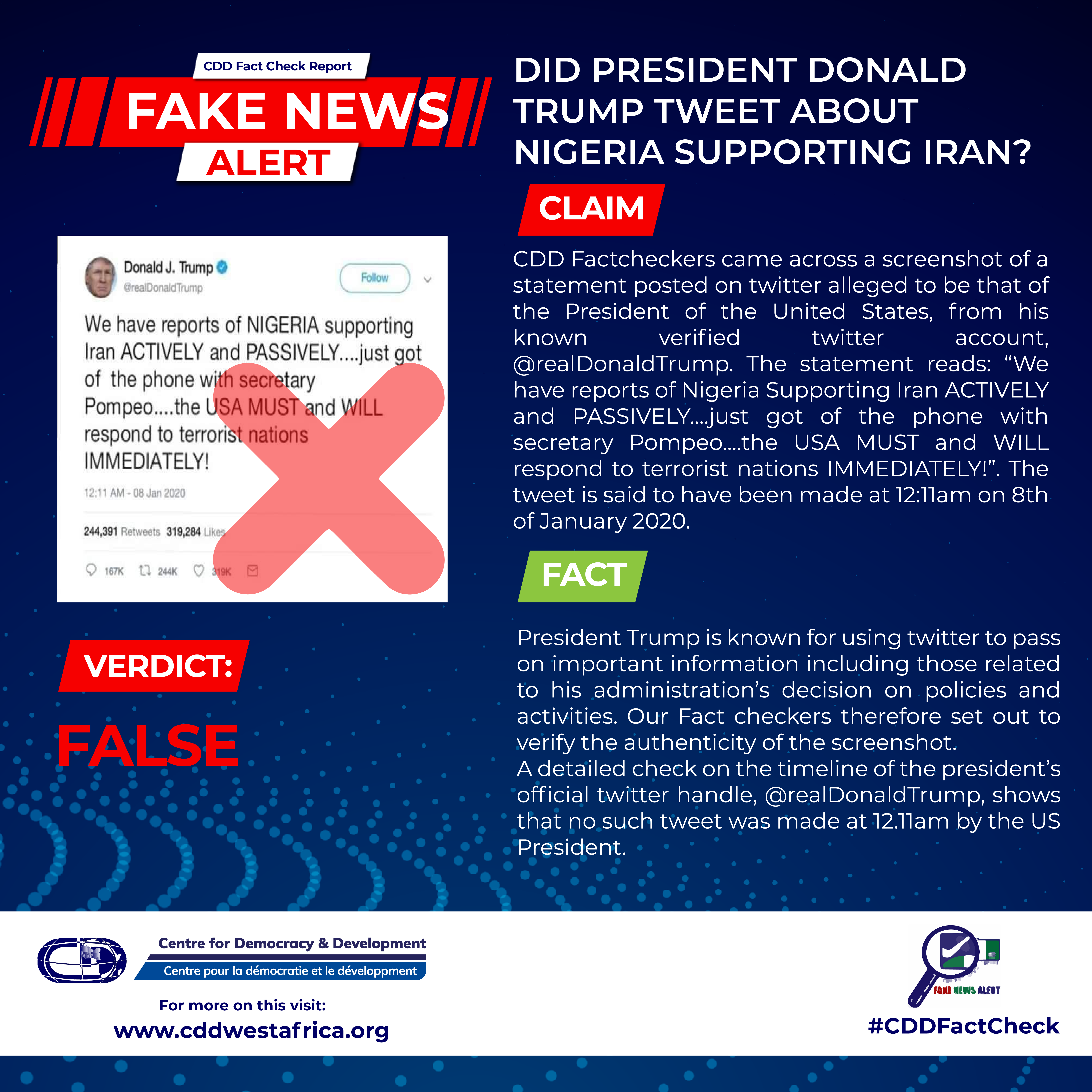 CDD Fact Check